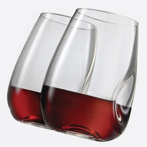 Bohemia TRUDEAU SET OF 4 GEM STEMLESS WINE GLASSES - 16 OZ
