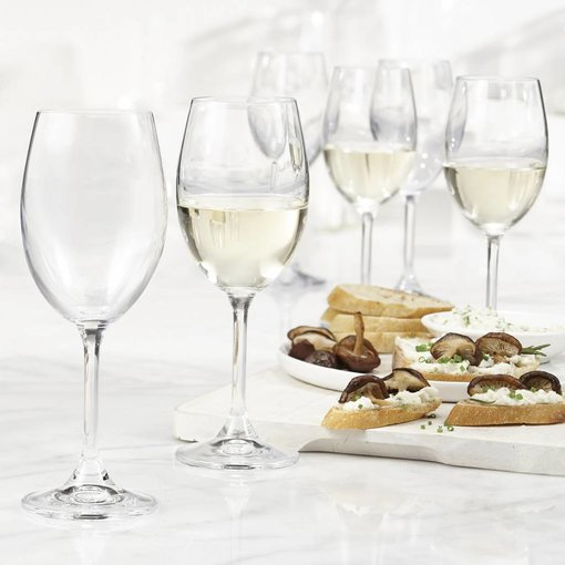 Bohemia Trudeau Bohemia Set of 6 Serene White Wine Glasses