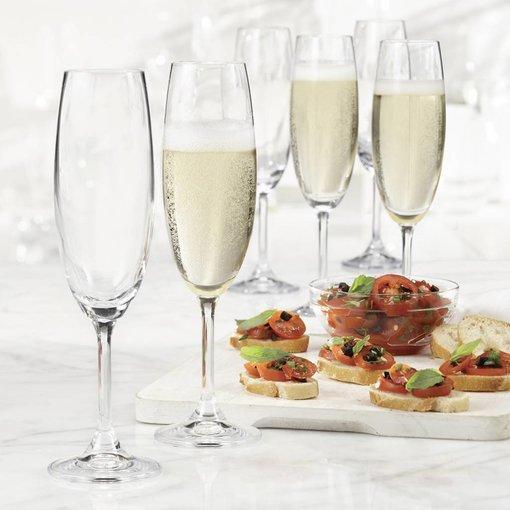 Bohemia Trudeau Bohemia Set of 6 Serene Champagne Flutes