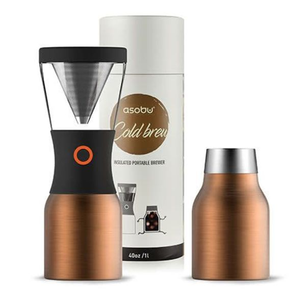 Asobu Cold Brew Coffee Maker with Thermal Pot, Copper