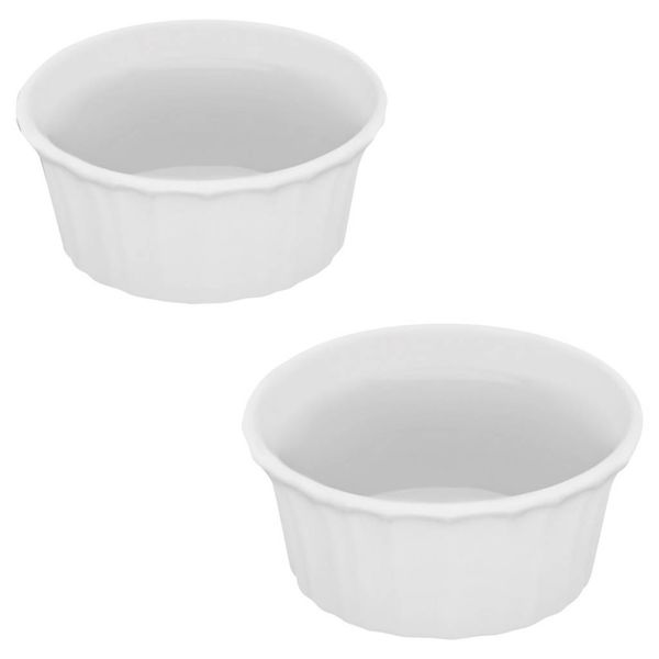 Corningware French White Round Ramekin 7 oz 2-pc Set