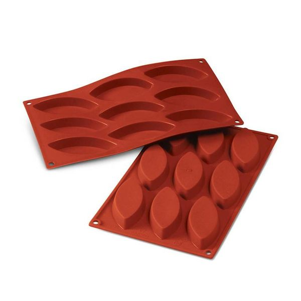 Silikomart Oval Barchetta Silicone Mold