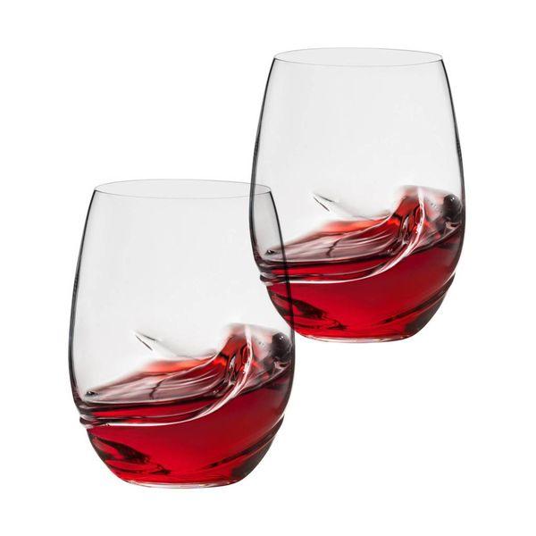 Trudeau Bohemia Set of 2 Oxygen Stemless Wine Glasses