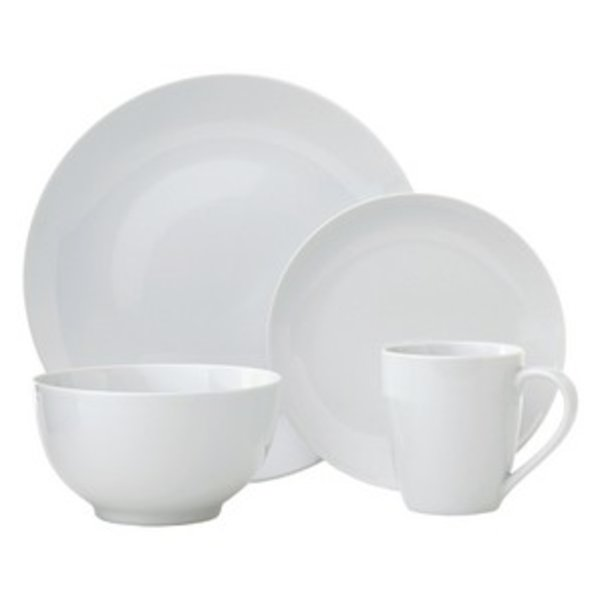 H2K 16-Piece Dinnerware Set (White)