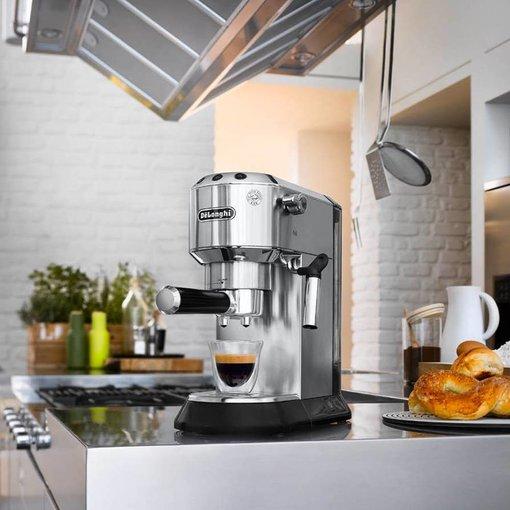 Delonghi De'Longhi Dedica Deluxe Manual Espresso  &  Cappuccino Maker Chrome