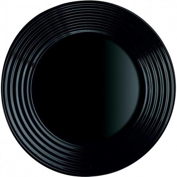 Assiette à dessert noire Harena de Luminarc