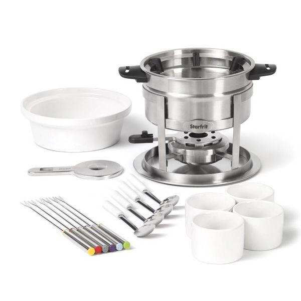 Ensemble à fondue 3 en 1 - 20 pièces - Guide à fourchettes magnétique