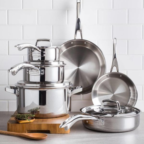 Zwilling TruClad 10 Piece Cookware Set