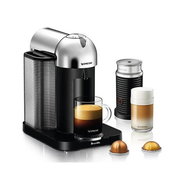 Nespresso Chrome Vertuoline Coffee Machine with Aeroccino