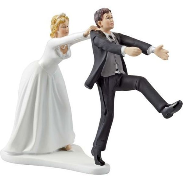 Wilton OH NO YOU DON'T WEDDING CAKE TOPPER