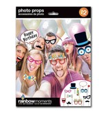 Rainbow Moments Rainbow Moments BIRTHDAY PHOTO PROP KIT (12-PACK)