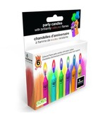 Rainbow Moments RAINBOW MOMENTS TROLL-THEMED COLORED FLAME CANDLES (6-PACK)