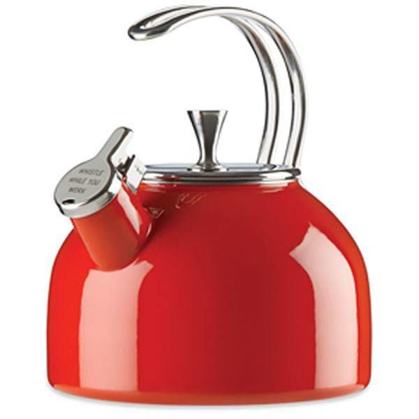 Kate Spade All in Good Taste Red Metal Kettle