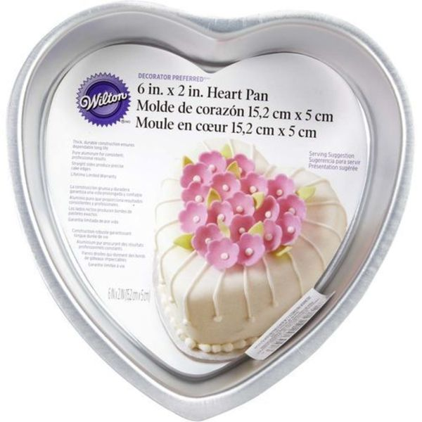 Wilton 6 X 2 HEART CAKE PAN