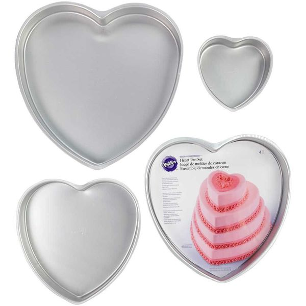 Wilton Set of 4 Heart Cake Pans