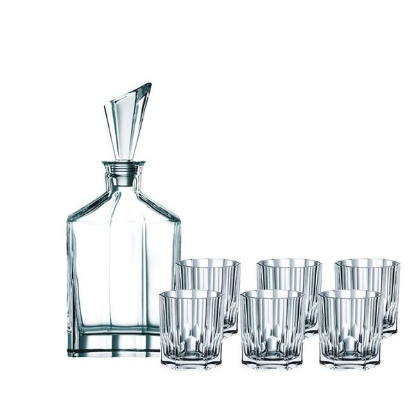 Nachtmann Whisky Set with Decanter and 6 Glasses, Crystal, 750 ml/324 ml