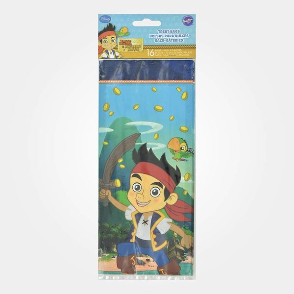 Ensemble de 16 sacs-gâteries Disney Jake and The Never Land Pirates Wilton
