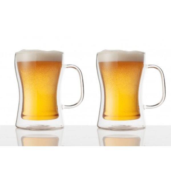 """Ensemble de 2 verres à bière """"Double Double"""" par Brilliant"""