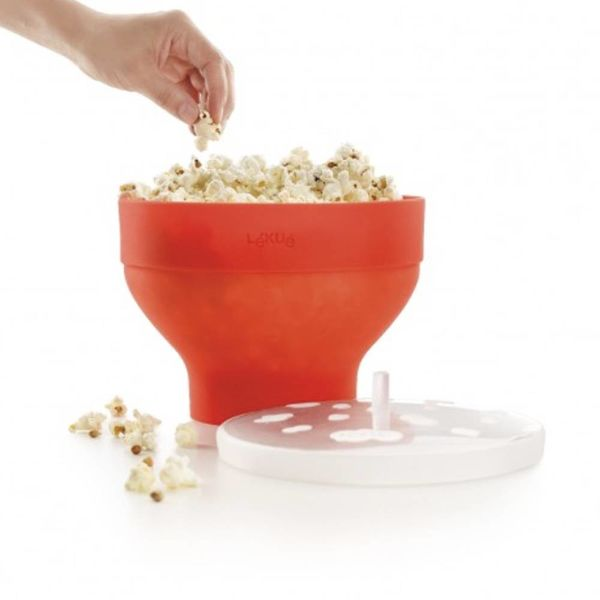 Lékué Silicone Popcorn Bowl with Lid