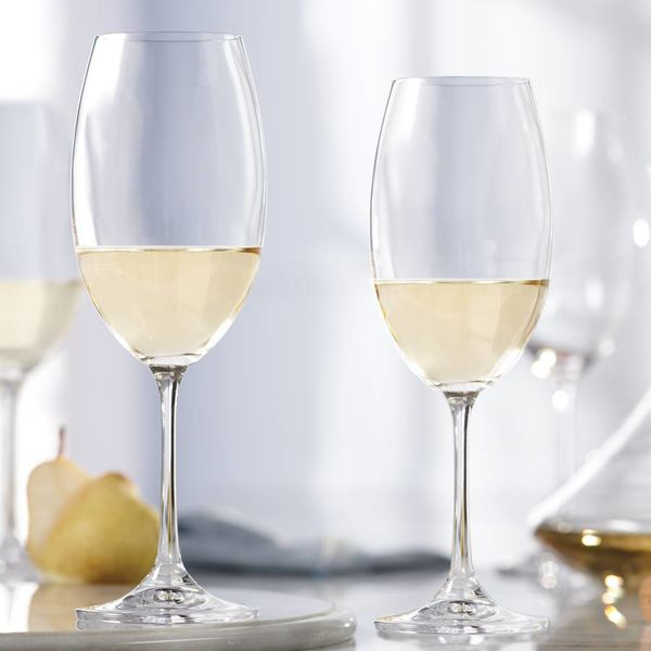 Set of 4 Crystalline White Wine Glasses by Mann