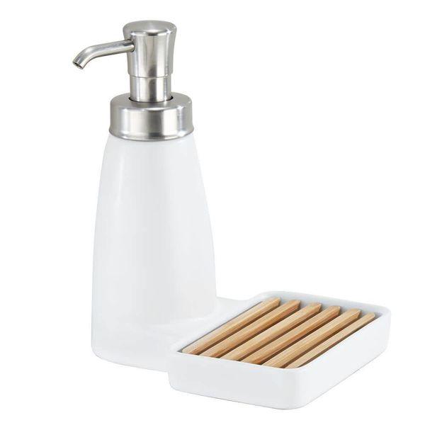 Pompe à savon avec support à éponge Benton de InterDesign
