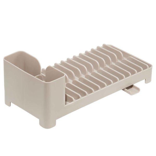 Égouttoir à vaisselle compacte taupe Clarity de InterDesign