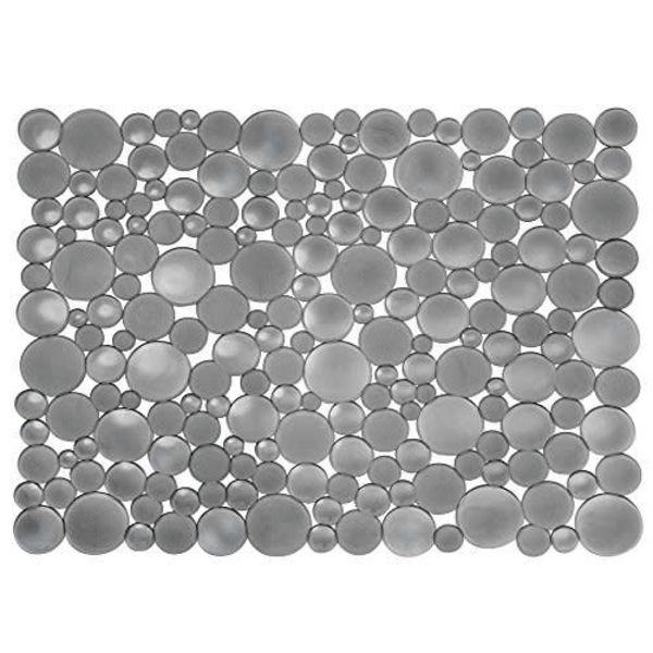 InterDesign Bubbli Sink Mat Large Graphite