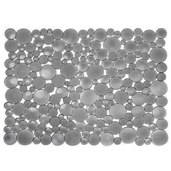 Tapis d'évier graphite Bubbli grand format de InterDesign