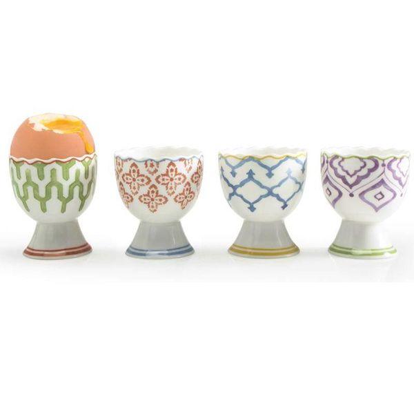 Coquetiers en porcelaine MARRAKECH par BIA