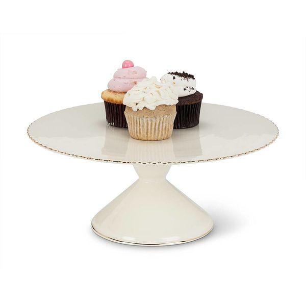 Gold Rim Pedestal Cake Stand by Abbott
