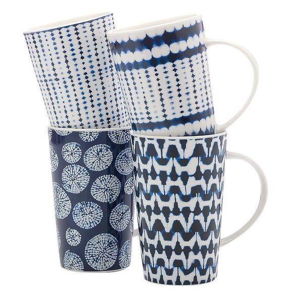 Set of 4 Shibori Mugs by Maxwell & Williams