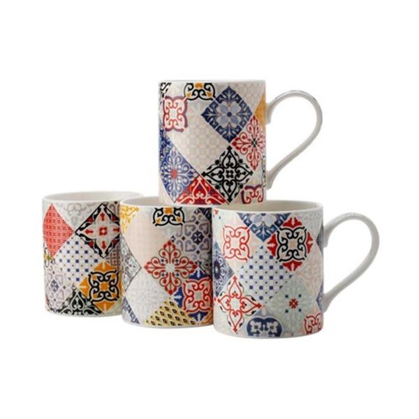 "Set of 4 ""Marrakesh"" mugs by Maxwell & Williams"