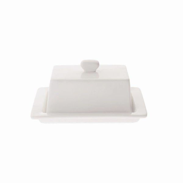 Beurrier Blanc Carré Porcelaine par Maxwell & Williams