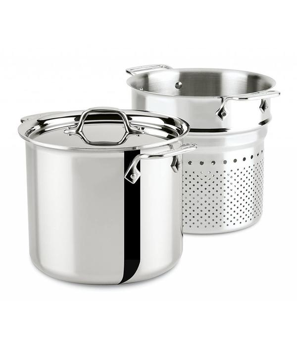 All Clad Stainless 8 Qt 7 5l Stock Pot With Insert