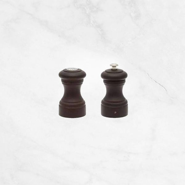 Peugeot Bistro Pepper Mill and Salt Shaker Set, Chocolate