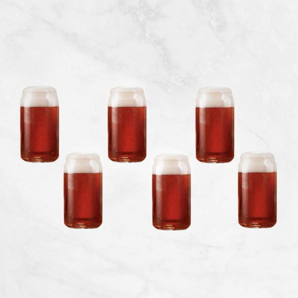 Luminarc Set of 6 Craft Brew Taster Can Beer Tasting Glasses