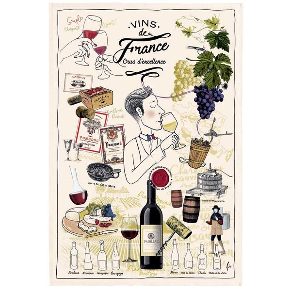 "T&B ""French Wine"" Dish Towel"