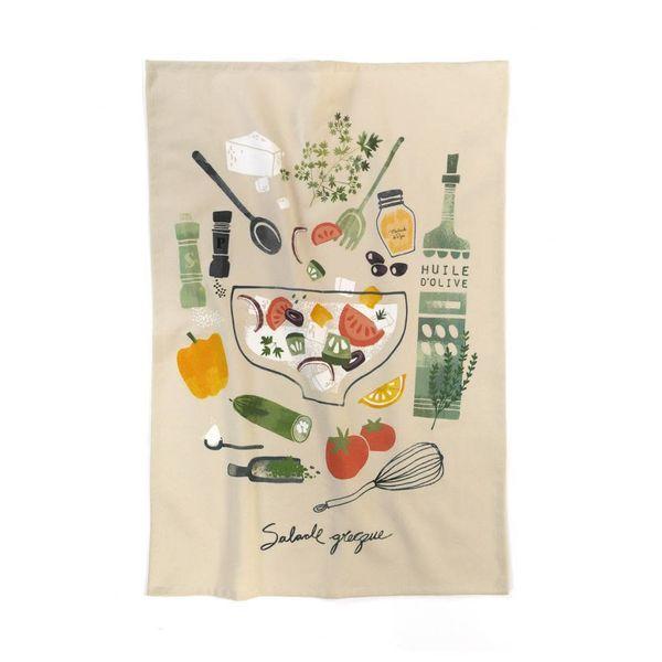"Ricardo Tea Towel ""Greek Salad"""