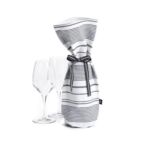 Ricardo White Wine Bag with Black Stripes