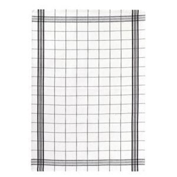 "Winkler ""Classic Square"" Black Dish Towel"