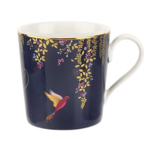 Sara Miller London for Portmeirion Chelsea Collection Mug - Navy Blue