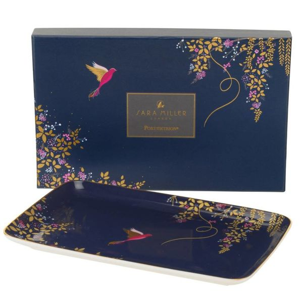 Sara Miller London for Portmeirion Chelsea Collection Trinket Tray Navy