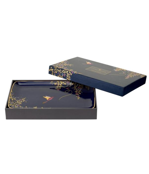 """Portmeirion Assiette rectangulaire bleu marine de la collection """"Chelsea de Sara Miller London"""" par Portmeirion"""
