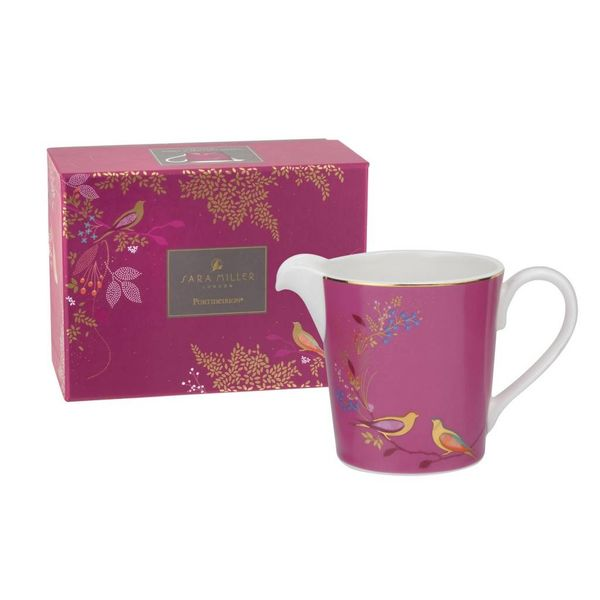 Sara Miller London for Portmeirion Chelsea Collection Cream Jug Pink