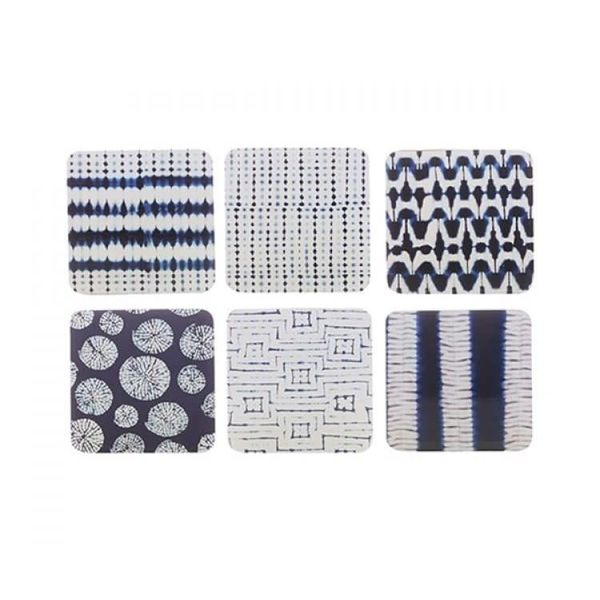 Maxwell & Williams Set of 6 Shibori Coasters