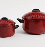 """Ensemble de 2 chaudrons à pâtes rouge  """"Casselman"""""""