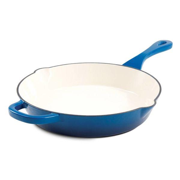 Poêle à frire en fonte émaillée bleu 25.4cm de CrockPot