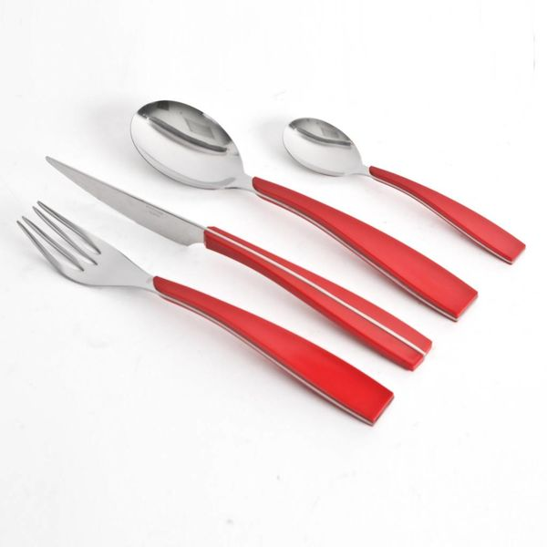 Gibson Home DecoShine 16 Piece Red Flatware Set