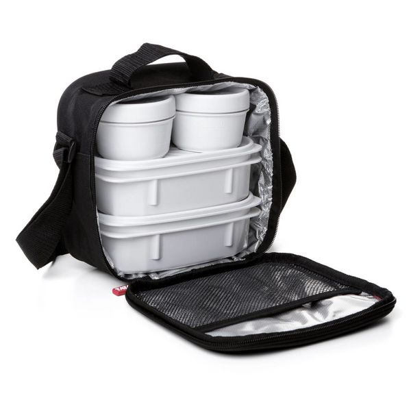 Tatay Urban Food Black Lunch Bag with Containers
