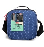 "Tatay ""Urban Food""  Blue with Polka Dots Lunch Bag and containers"